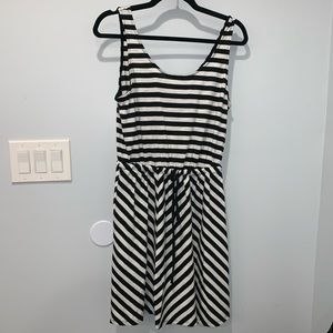 Black and white striped dress. New with tags!